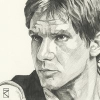 Star Wars - Han Solo Sketch Canvas