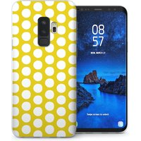 CASEFLEX SAMSUNG GALAXY S9 PLUS LIME GREEN POLKA DOT CASE / COVER (3D)