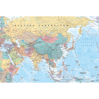 Asia & Middle East Map Maxi Poster