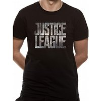 Justice League Movie - Logo Men's Small T-Shirt - Black