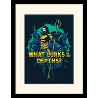 Aquaman - What Lurks in the Depths Mounted & Framed 30 x 40cm Print