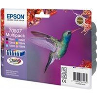 Epson C13T08074011 (T0807) Ink cartridge multi pack, 220 pages, 6x7,4ml, Pack qty 6