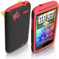 YouSave Accessories HTC Sensation Dual Combo Case - Red