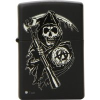 Zippo Sons of Anarchy Reaper Windproof Pocket Lighter Black Matte