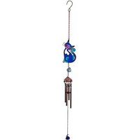 Blue Slinky Cat Windchime