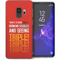 CASEFLEX SAMSUNG GALAXY S9 SINGLE, DOUBLE, TRIPLE QUOTE - RED CASE / COVER (3D)