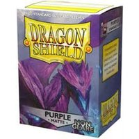 Dragon Shield Matte NonGlare - Purple 100 Sleeves In Box (10 Packs)
