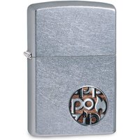 Zippo Button Logo Chrome Regular Windproof Lighter