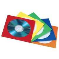Hama CD/DVD Paper Sleeves, pack of 25, assorted colours