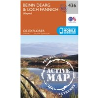 Beinn Dearg and Loch Fannich by Ordnance Survey (Sheet map, folded, 2015)