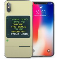 CASEFLEX APPLE IPHONE X STEVE JOBS QUOTE CASE / COVER (3D)