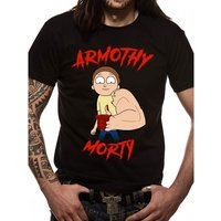 Rick And Morty - Armothy Morty Men's Small T-Shirt - Black