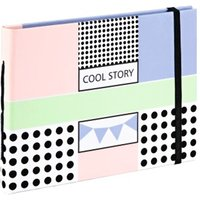 Hama Cool Story Bookbound Album, 18x13 cm, 20 brown pages