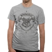 Harry Potter - Hogwarts Crest Men's XX-Large T-Shirt - Grey
