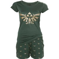 Nintendo Legend of Zelda Hyrule Royal Crest Shortama Large Nightwear Set
