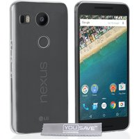 YouSave Accessories LG Nexus 5X 0.6mm Ultra-Thin Gel Case - Clear