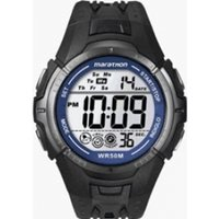 Timex Sport Marathon Fullsize Quartz Watch with LCD Dial Digital Display and Resin Strap T5K4214E