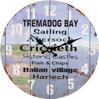 Tremadog Bay Theme Wall Clock
