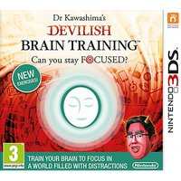 Dr Kawashima's Devilish Brain Training Can You Stay Focused? 3DS Game