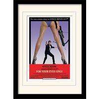 James Bond - For Your Eyes Only One-sheet Mounted & Framed 30 x 40cm Print