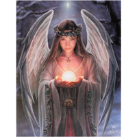 Small Yule Angel Canvas Picture by Anne Stokes