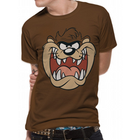 Looney Tunes - Taz Face Men's Small T-Shirt - Brown