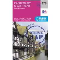 Canterbury & East Kent, Dover & Margate by Ordnance Survey (Sheet map, folded, 2016)