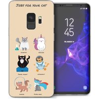 CASEFLEX SAMSUNG GALAXY S9 JOBS FOR YOUR CAT CASE / COVER (3D)