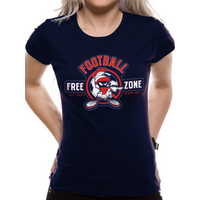 Looney Tunes - Anti-football Women's X-Large Fitted T-Shirt - Blue
