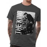 Elvis Presley - The King Men's X-Large T-Shirt - Grey