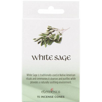 12 Packs of Elements White Sage Incense Cones