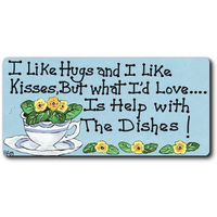 I Like Hugs And I Like Kisses Smiley Magnet Pack Of 12