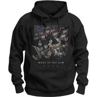KISS - Made in the USA Men's Large Pullover Hoodie - Black
