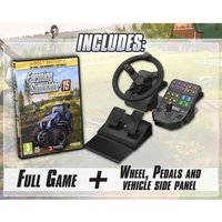 Farming Sim 2015 Gold Edition + Wheel + Pedals + Side Panel PC Game