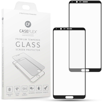 Huawei Honor View 10 Tempered Glass Screen Protector with Black Edge - Twin Pack