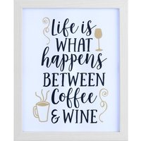 Between Coffee & Wine Light Box Frame