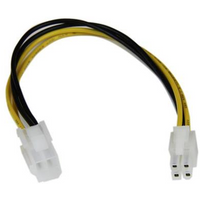 StarTech ATX 12V 4-pin Power (M) to ATX 12V 4-pin Power (F) 0.2m Retail Packaged Internal Extension Cable