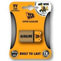 JCB 9V Super Alkaline Batteries 1 Pack x 24