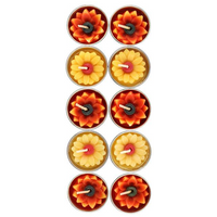 Box of 10 Yellow and Orange Sunflower Candles