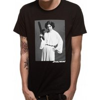 Star Wars - Leia Classic Portrait Men's Large T-Shirt - Black