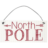 Metal North Pole Sign