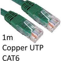 RJ45 (M) to RJ45 (M) CAT6 1m Green OEM Moulded Boot Copper UTP Network Cable