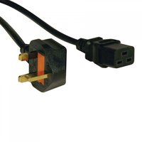 Tripp Lite Standard UK Power Cord/Lead Cable, 13A (IEC-320-C19 to BS-1363 UK Plug), 2.44 m / 8-ft