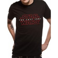 Star Wars 8 The Last Jedi - Logo Men's X-Large T-Shirt - Black