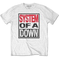 System Of A Down - Triple Stack Box Men's X-Large T-Shirt - White