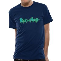 Rick And Morty - Logo Men's Small T-Shirt - Blie