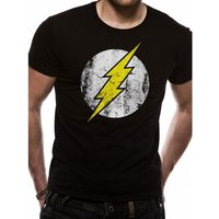 The Flash Distressed Logo X-Large T-Shirt - Black