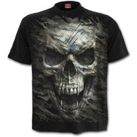 Camo-Skull Men's X-Large T-Shirt - Black
