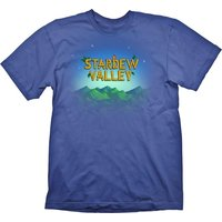 Stardew Valley Men's Medium Logo T-Shirt - Blue