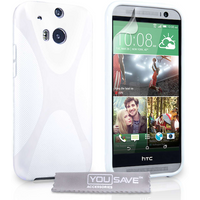 YouSave Accessories HTC One M8 X-Line Gel Case - White